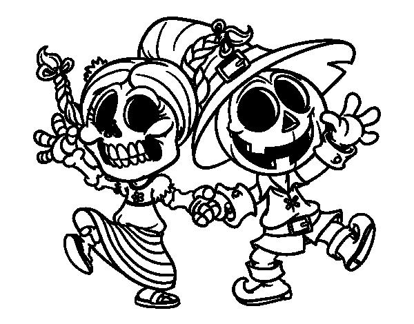 Dibujo de Miércoles y Jack-o-lantern para colorear   Dibujos de ...