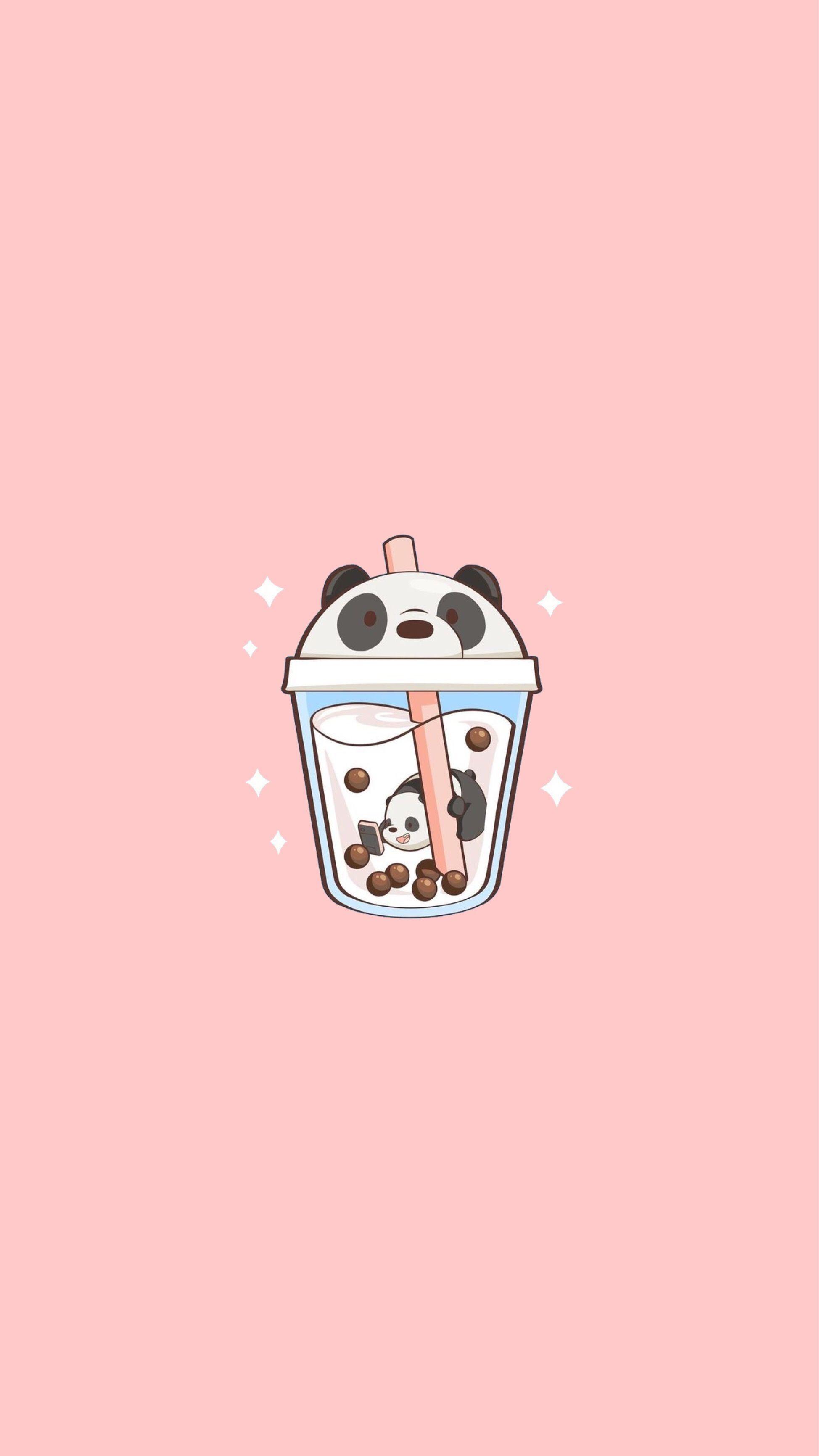 Kawaii Pink Panda Wallpapers - Wallpaper Cave