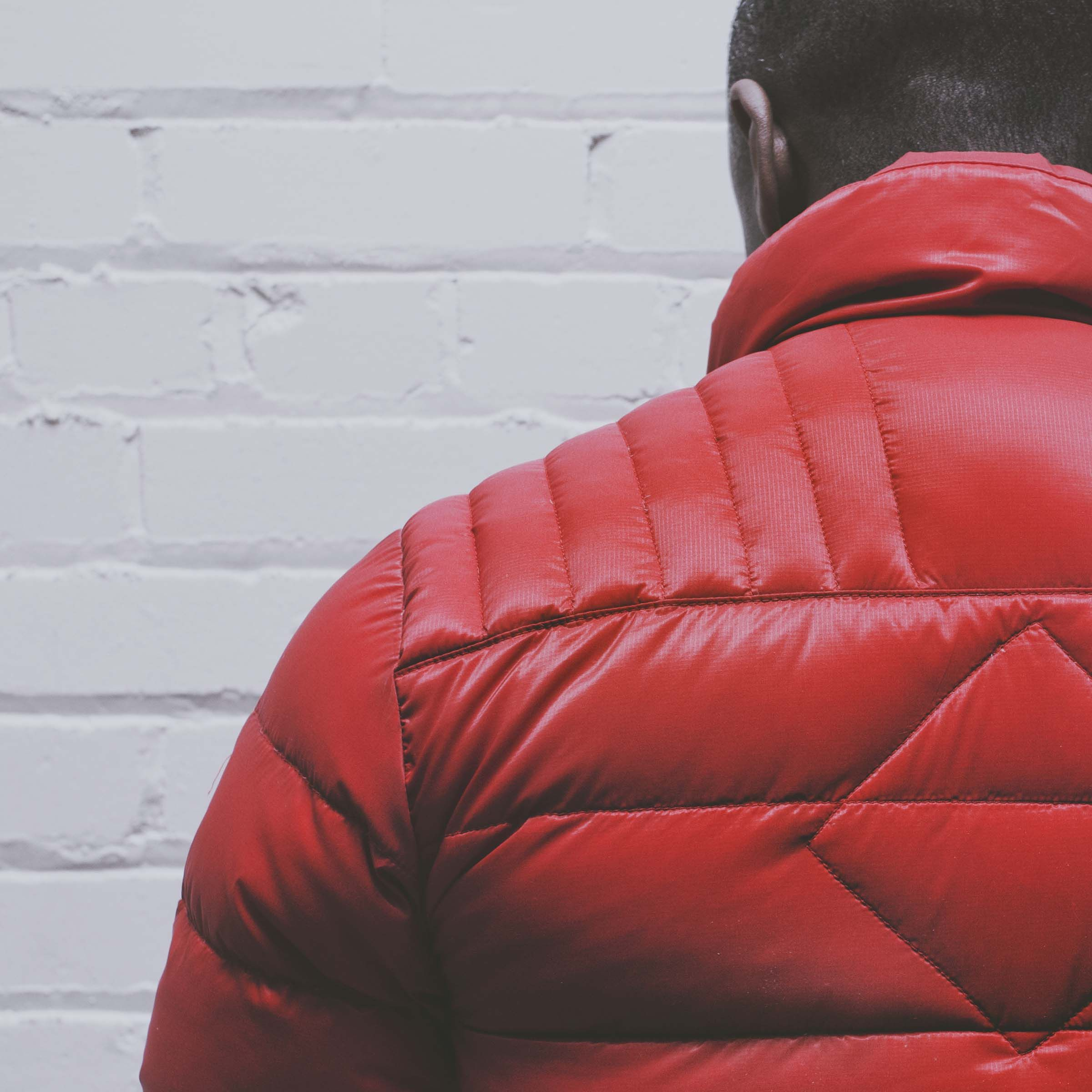 The Brookvale jacket is quilted for warmth and flexibility #red #FW15