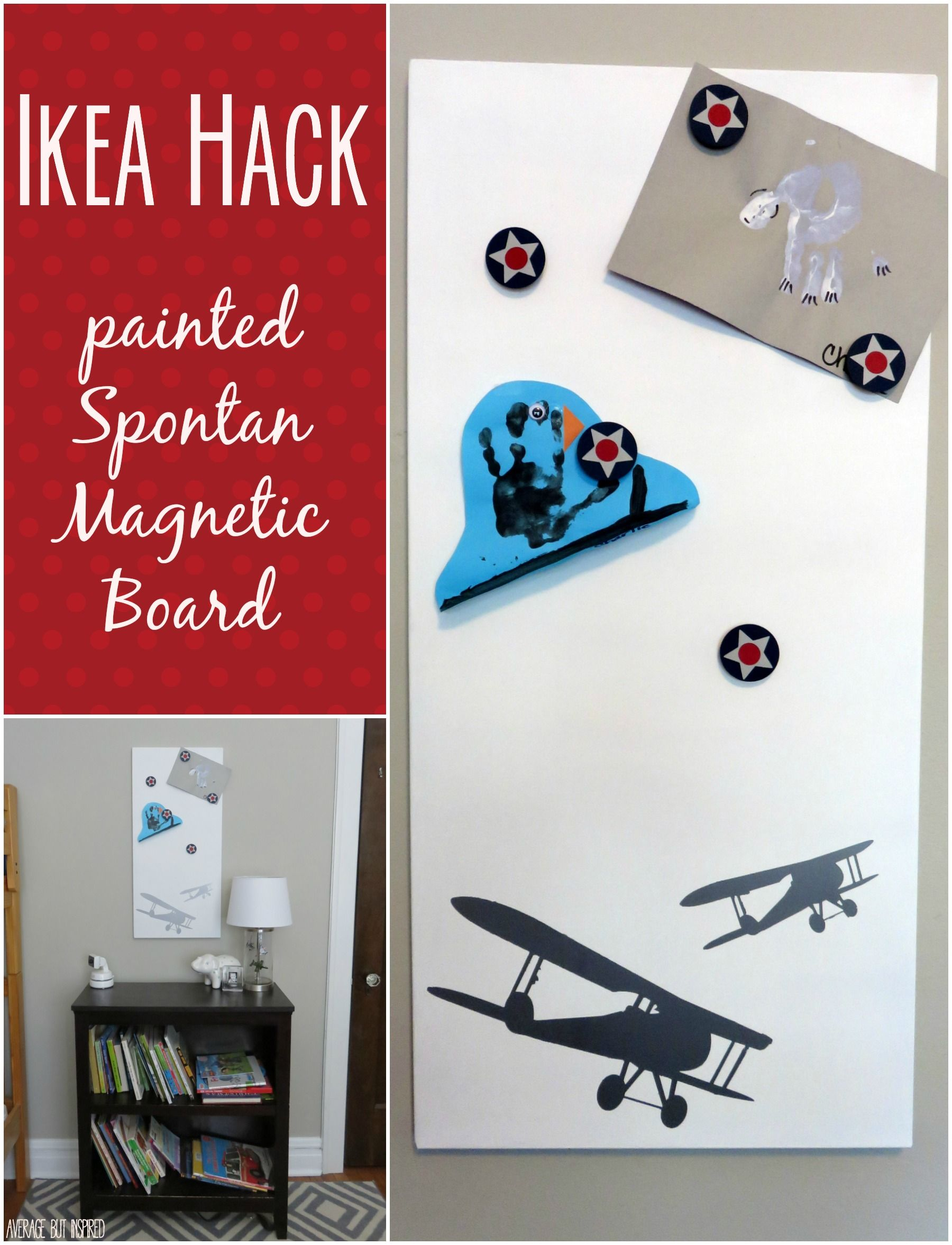 IKEA Hack The Spontan Magnetic Board Painted and Beautified