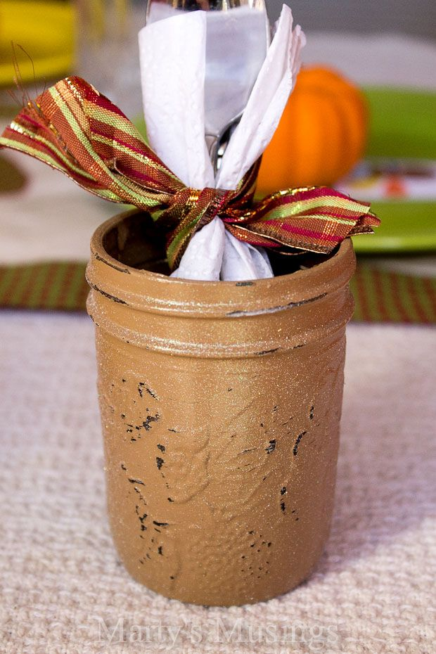 Decorating Ideas > Thanksgiving Table Setting And Painted Mason Jar Ideas  ~ 133107_Thanksgiving Jar Decorations