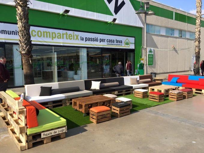 Furniture With Pallets In Leroy Merlin Spain Muebles De