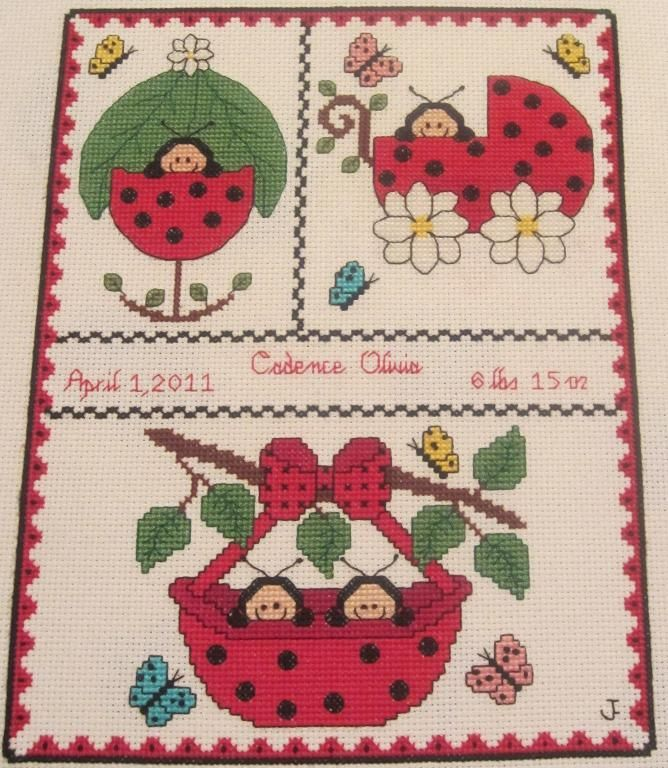 17 Best images about Baby Projects – Baby Birth Announcement Cross Stitch Patterns