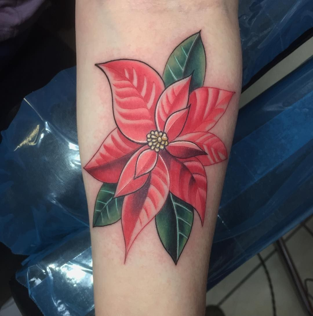 Fun Little Styluses Poinsettia Flower As A Memorial For Clare S Brother Tattoo Eternalink Tattoos For Kids Tattoos Tattoos For Daughters