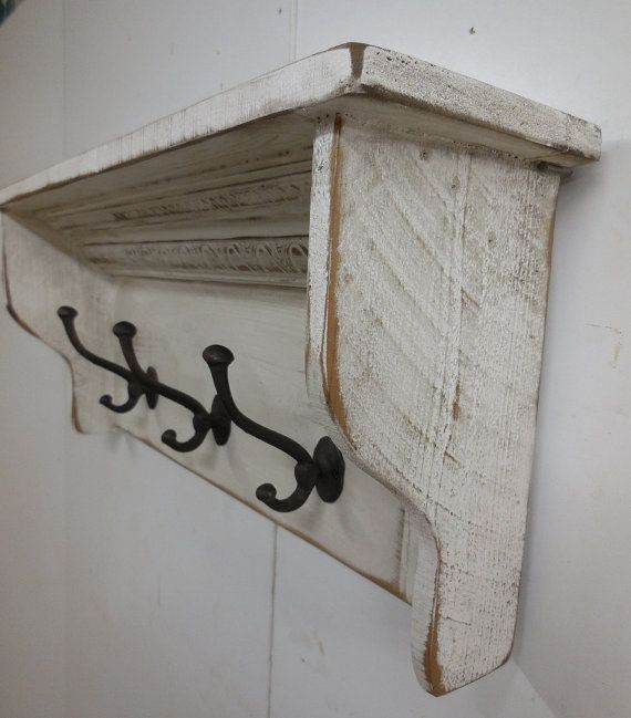 Rustic Towel Rack, French Country Coat Hooks