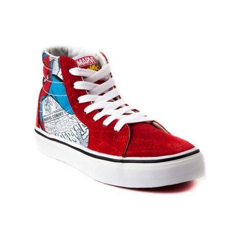 Youth Vans Sk8 Hi Spider-Man Skate Shoe