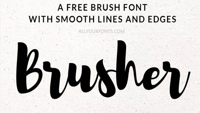 Brusher Font Family Free Download Brush Font Free Brush