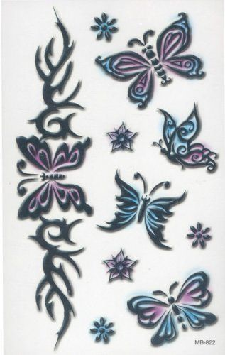 Tribal Butterflies 2 Temporary FakeTattoo BeWild. $2.99