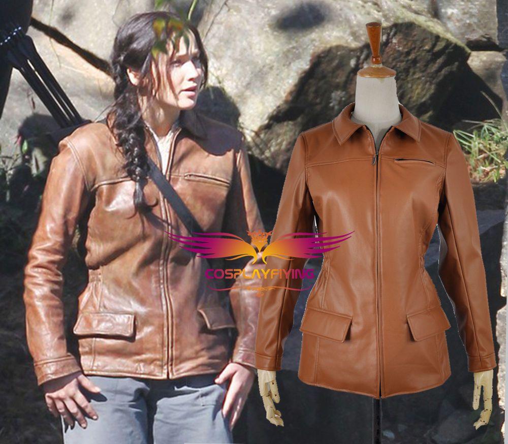 The Hunger Games 3 Katniss Everdeen Brown Coat Cosplay Costumes Jacket #Handmade #CompleteCostume