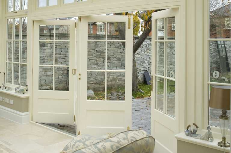 Love The Idea Of Having This Wall Of Bi Fold Doors That Looks Farmhouse And Not Modern
