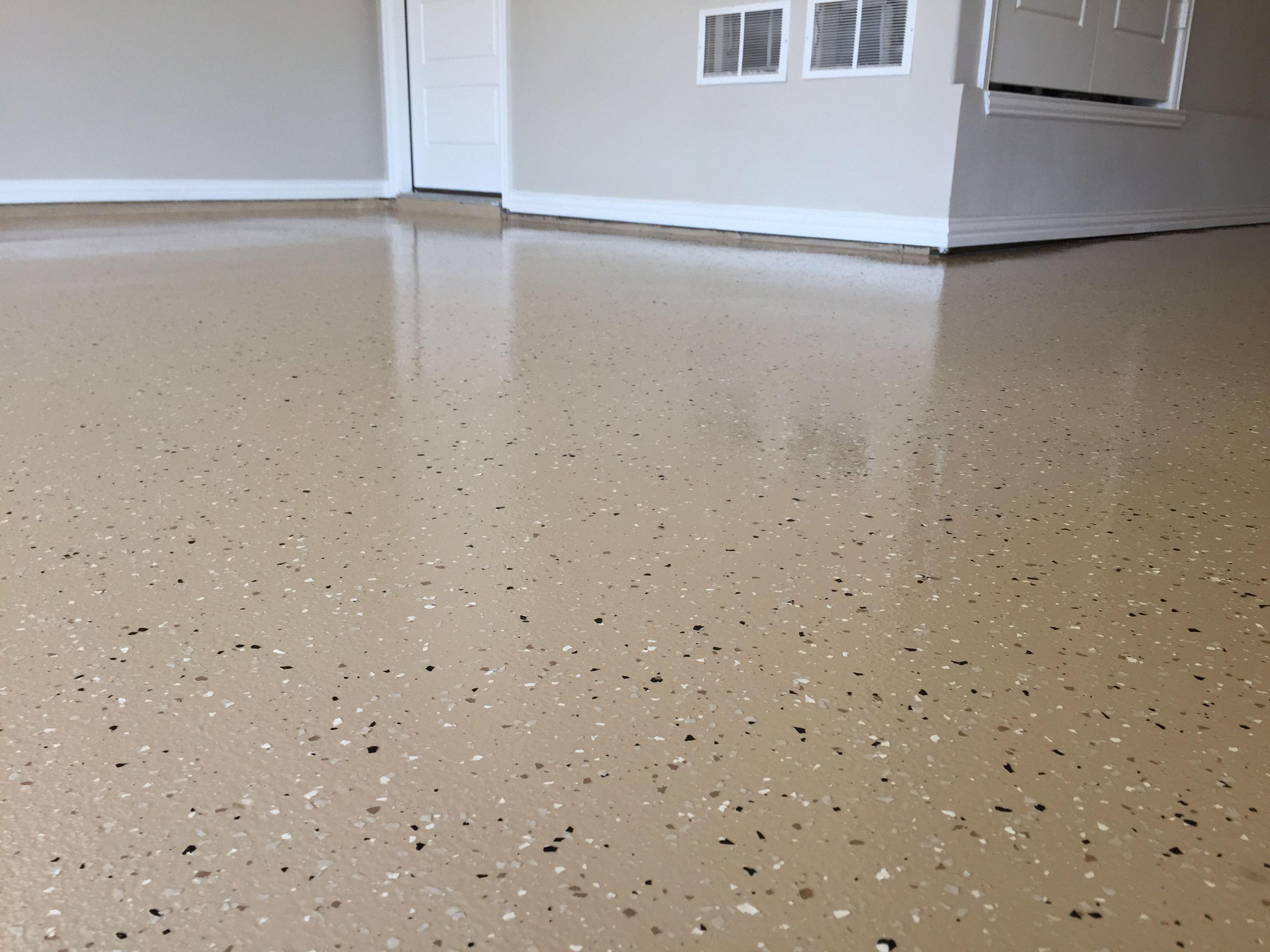 Partial Flake Garage Floor Flooring Garage Floor Metallic Epoxy Floor
