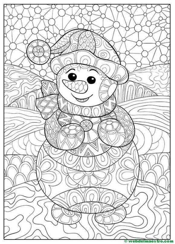 Dibujos Navidenos Para Colorear Web Del Maestro Hojas De Navidad Para Colorear Mandalas De Navidad Mandalas Navidenas