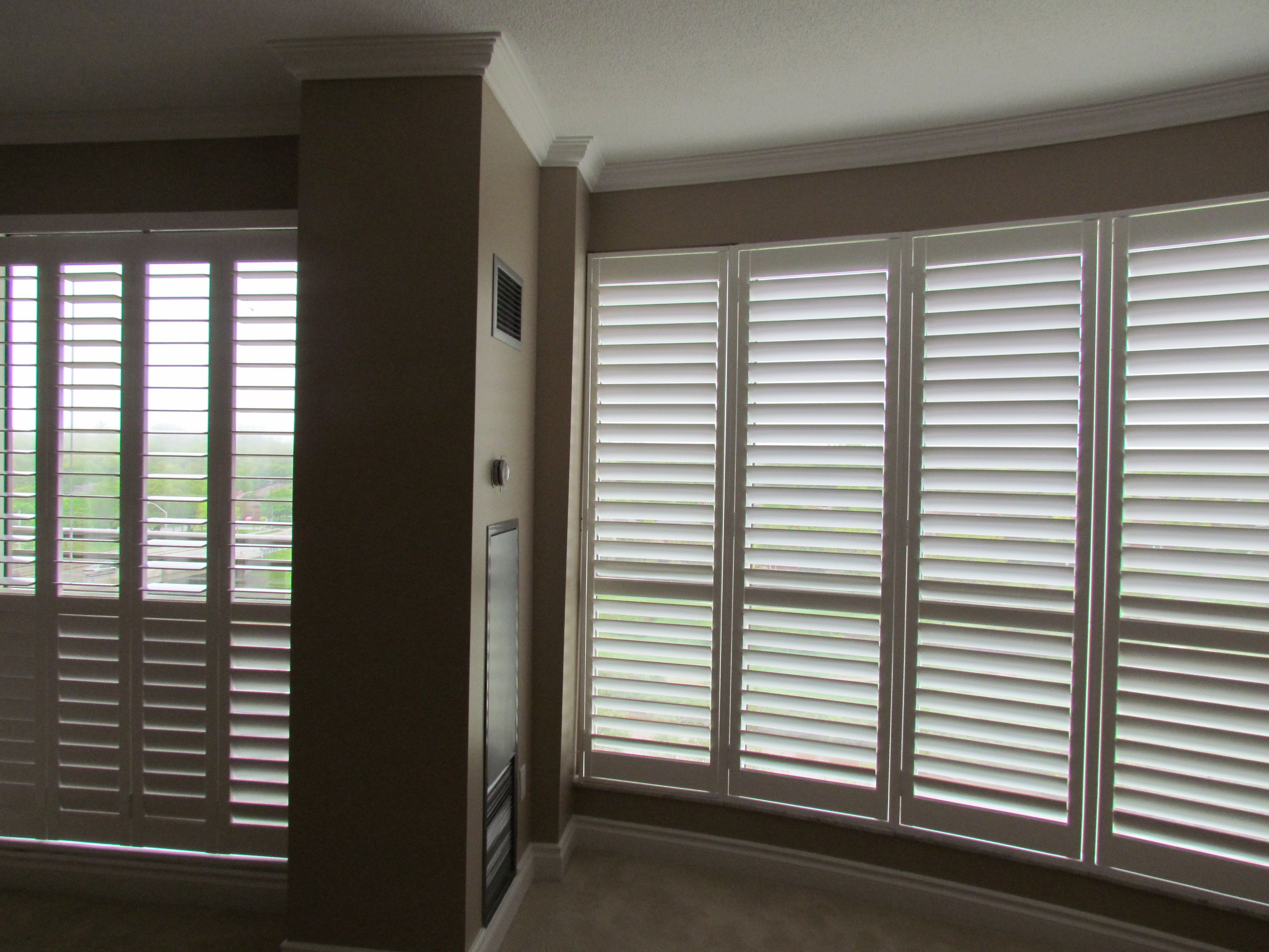 Shades Of Home By Pass Shutters Patio Door And Framed Shutters
