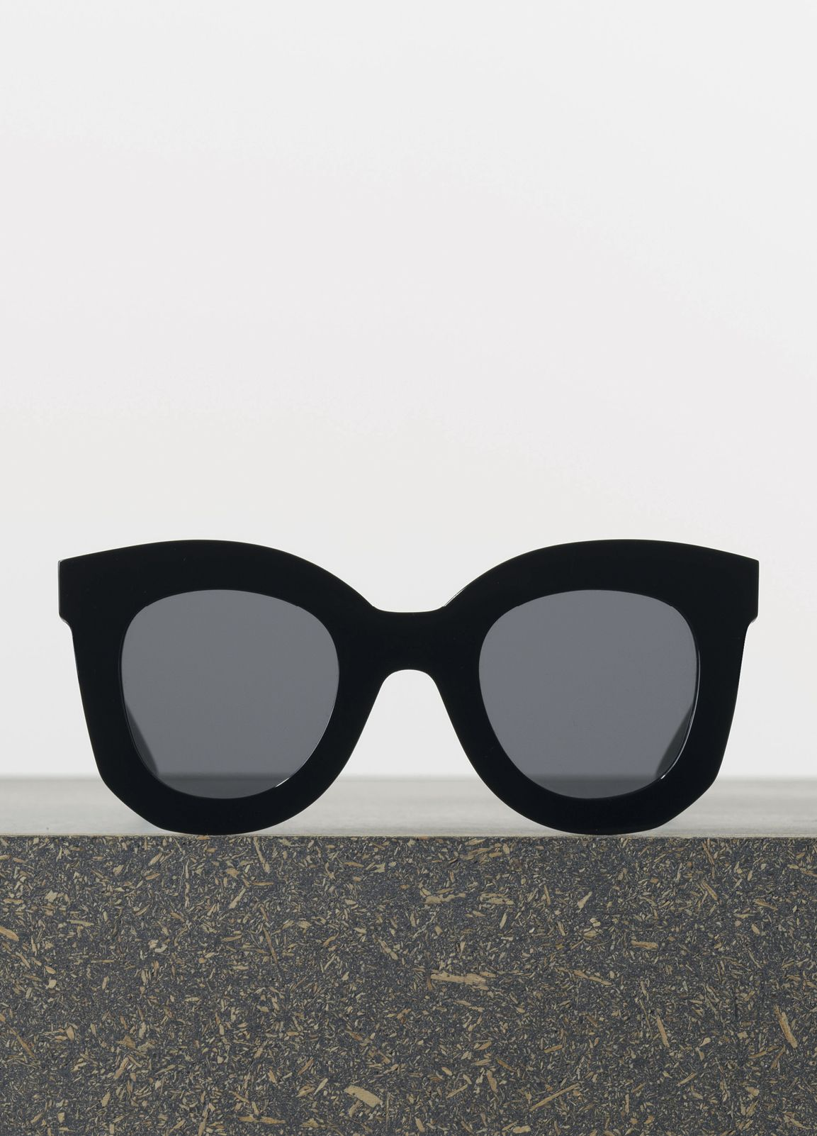 ce44ab511d Marta Sunglasses in Black Acetate with Grey Lenses I want these so bad. Wish  the lenses were darker though