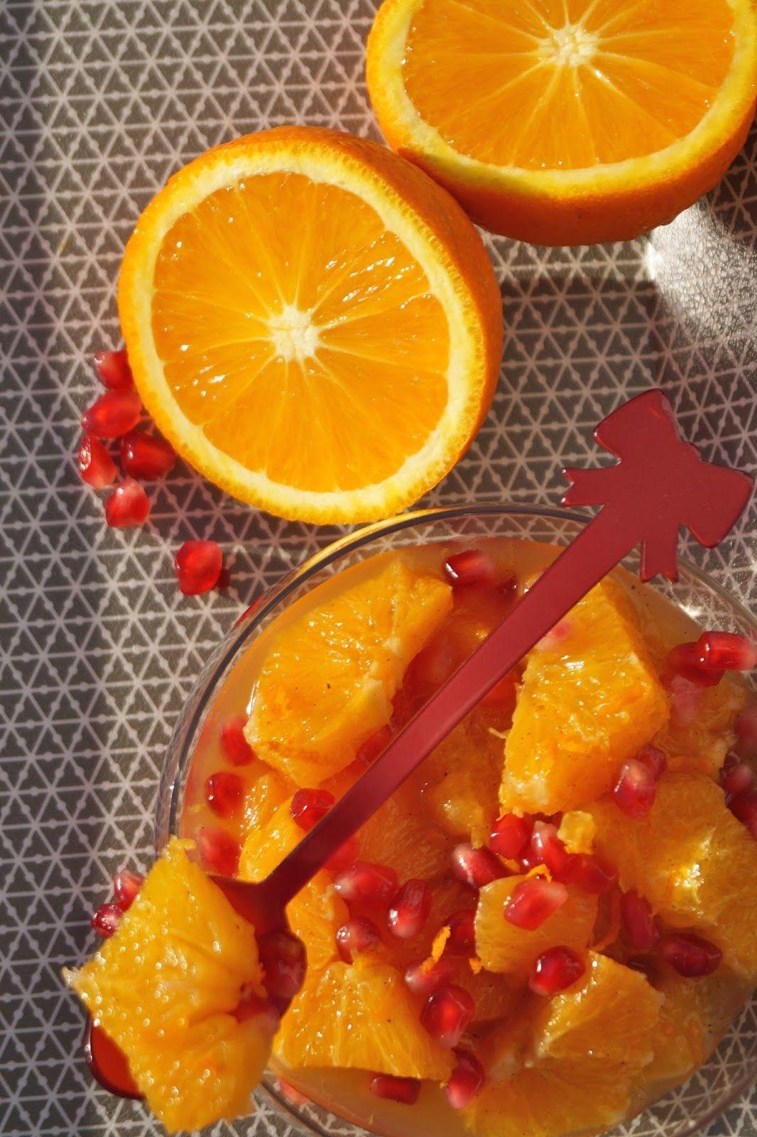 Recettes gourmandes by Kélou: Salade d'oranges et grenade