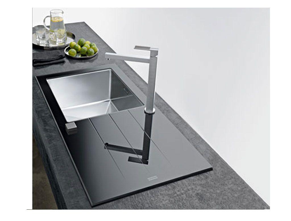lavello cucina in #vetro temprato e #acciaio #Franke #Cristal ...