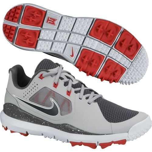 sneakers for cheap 096b6 d8f43 New Nike TW 14 2014 Tiger Woods Mesh Mens Golf Shoes GreyRedBlack - Pick  Size