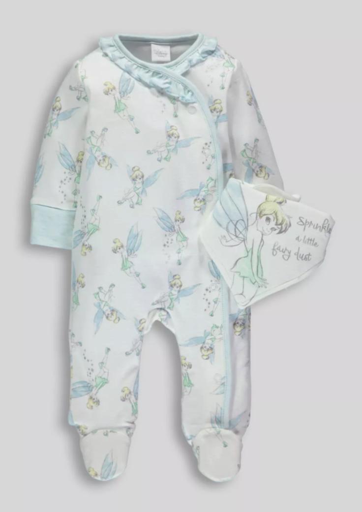 75599b8fd9863 Disney Tinkerbell Sleepsuit & Bib Set £10 @ Matalan | Tinker bell ...
