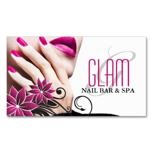 Nail Technician Business Card Make Your Own With This Great Design All You Need Is To Add Info Template