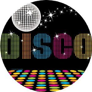 Disco Party Dessert Plates feature a dance floor and mirror ball design with a black background and starburst accents and declares \ DISCO\  in the center.  sc 1 st  Pinterest & Paper plates x 8. Amazon | Andy Debbie \u0026 Sophie\u0027s 40th Disco ...