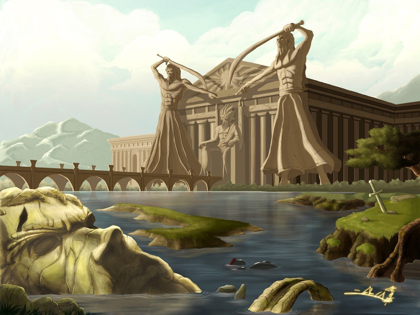 Ancient Greece Powerpoint Template   The highest quality ...   Ancient Greece Wallpaper Designs