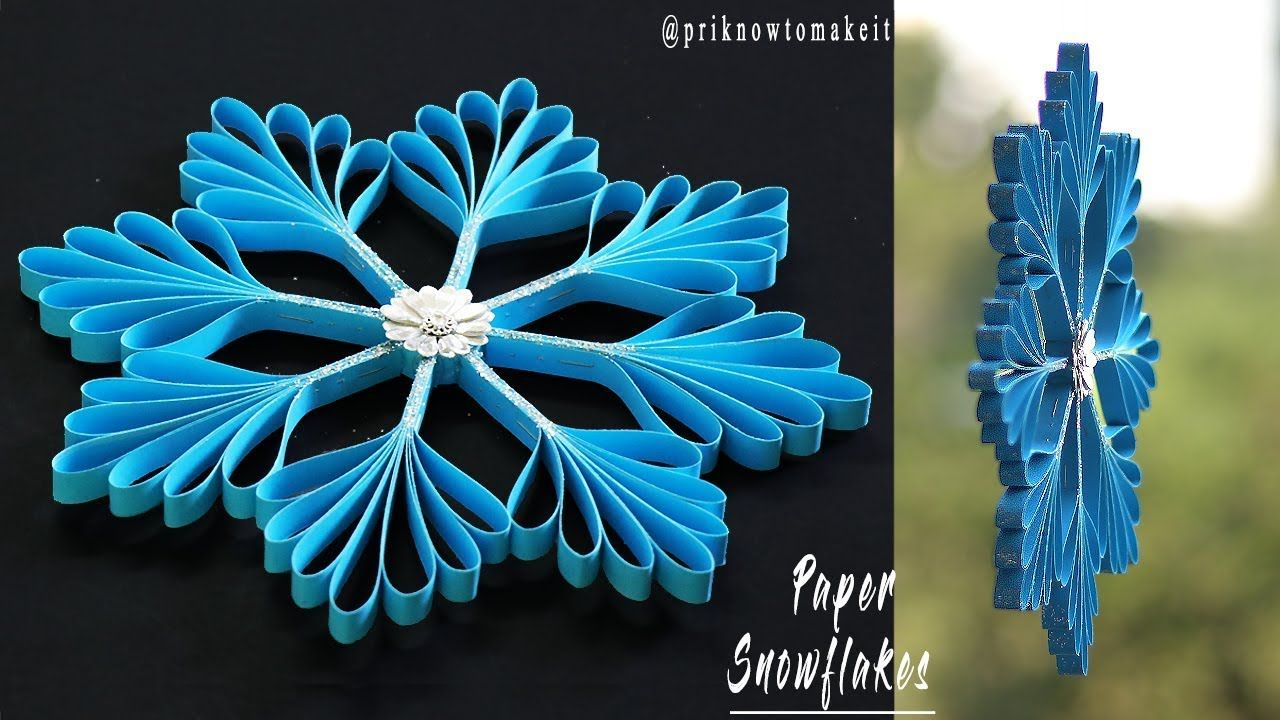 3d Snowflake Paper Snowflake How To Make 3d Paper Snowflakes For Chr 3d Paper Snowflakes Diy Christmas Snowflakes Paper Snowflakes Diy
