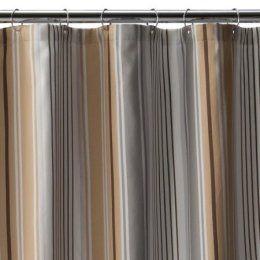 beige striped shower curtain. Fieldcrest Luxury Multi Stripe Shower Curtain  Brown gray 72x72