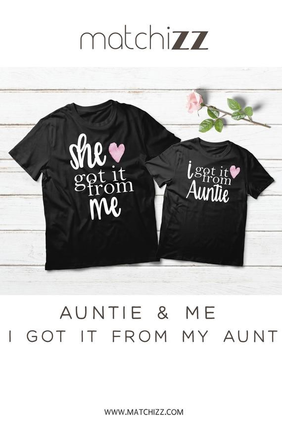 b95e7d1bc422 Aunt Niece Shirts Matching Aunt Niece Outfits Aunt Gift She Got it From Me