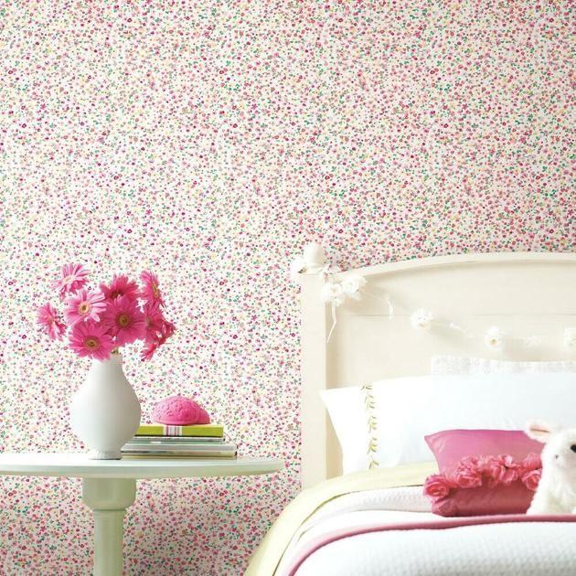 Petite Floral Peel And Stick Wallpaper Peel And Stick Wallpaper Room Visualizer Roommate Decor