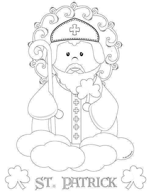 Life Love Sacred Art Free St Patrick Coloring Page