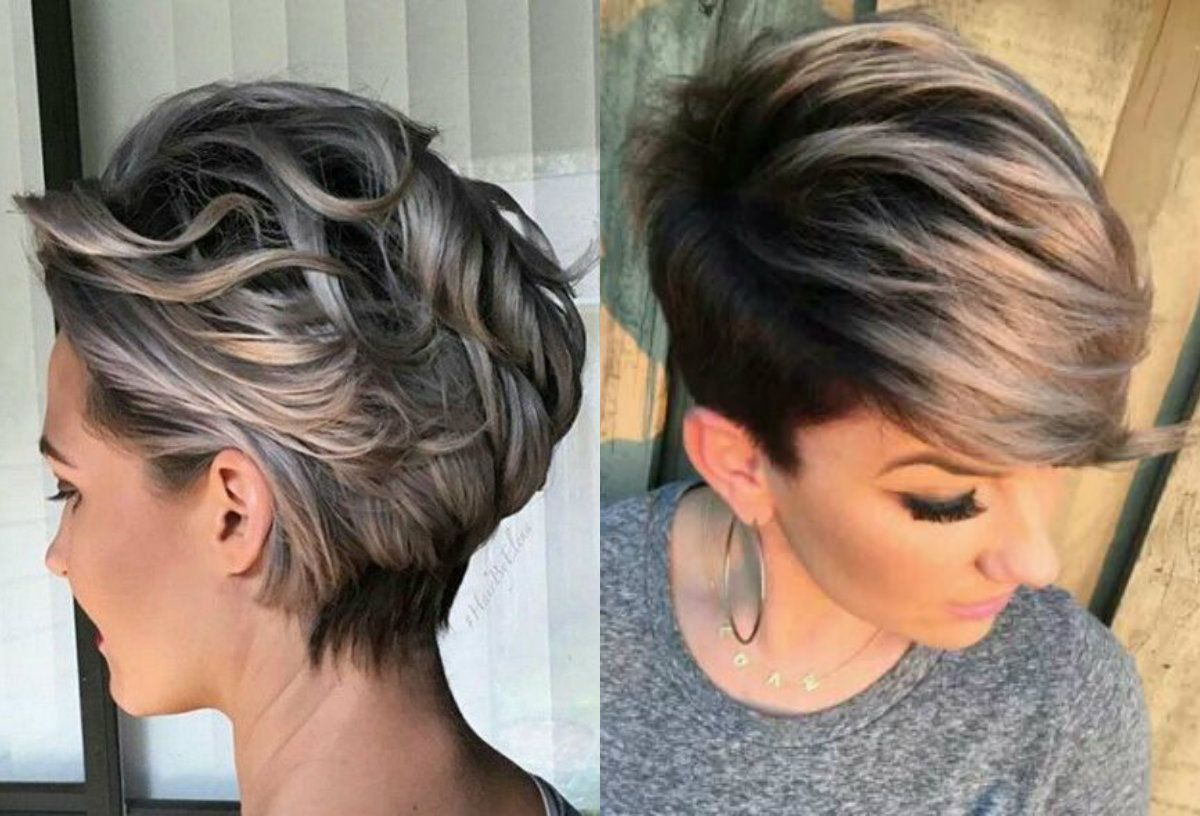Short Pixie Haircuts With Highlights Will Become Your Favorite Look Beyond Any Doubt Crea Short Hair Highlights Dark Hair With Highlights Short Pixie Haircuts