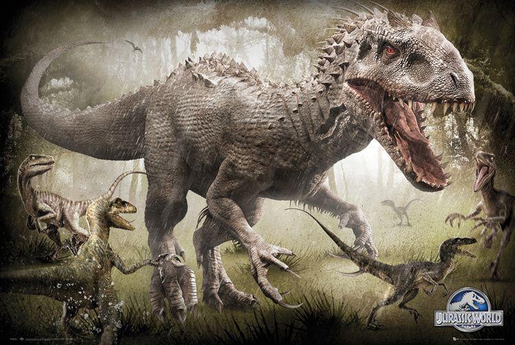 Indominus Rex Jurassic Park Wiki Fandom Powered By Wikia Jurassic World Poster Jurassic World Dinosaurs Jurassic World Raptors