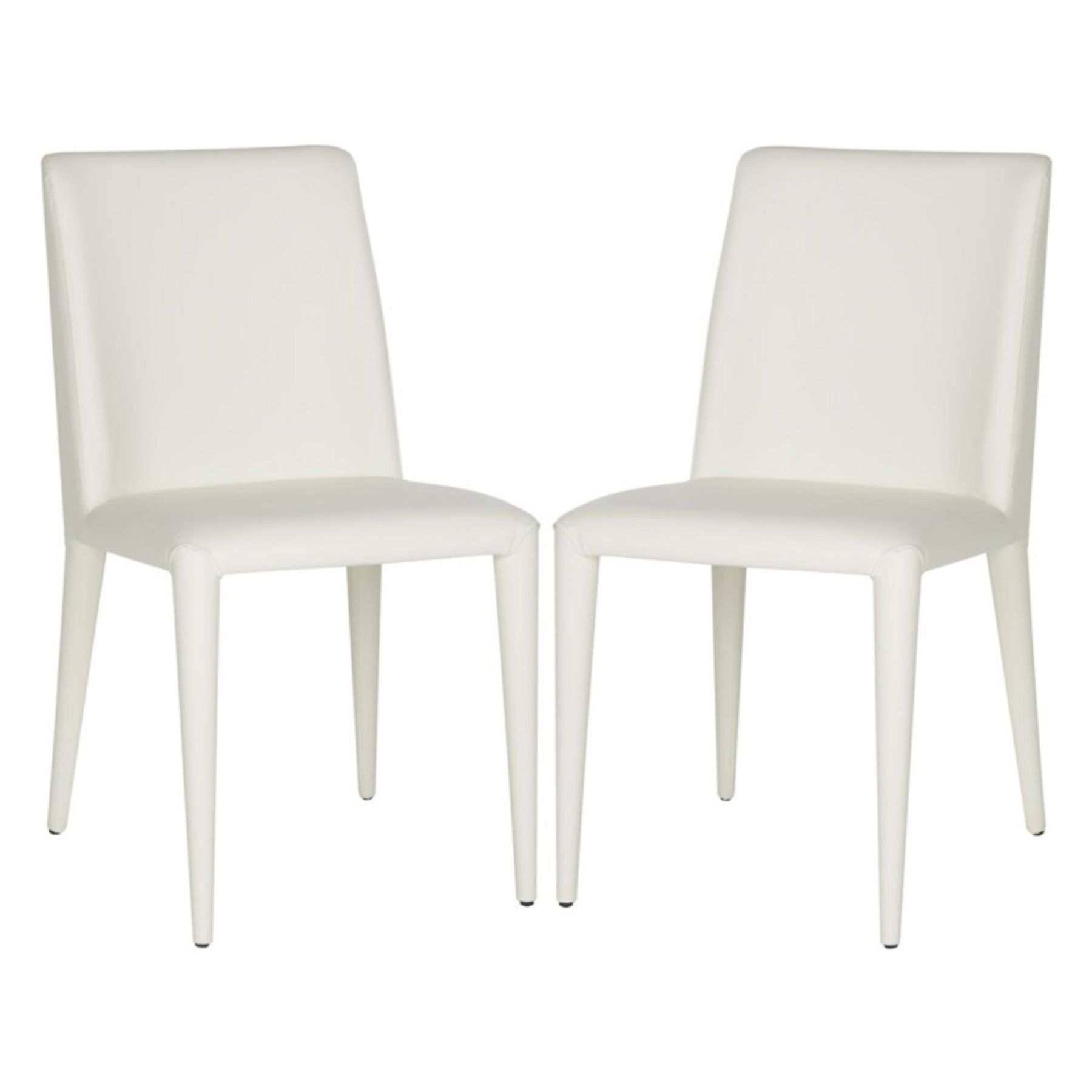Safavieh Garretson Leather Side Dining Chair - Set of 2 Buttercream - FOX2019C-SET2