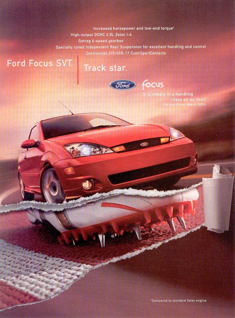 2003 Ford Focus Svt Print Ad Ford Focus Ford Focus Svt Ford