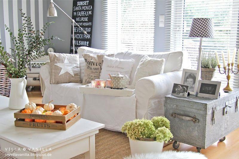Villa ✪ Vanilla Wohnen Pinterest Maritim, Wohnzimmer und - Wohnzimmermöbel Weiß Landhaus