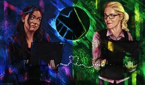 The Cyber Queens  Skye (Agents of S H I E L D ) and Felicity Smoak