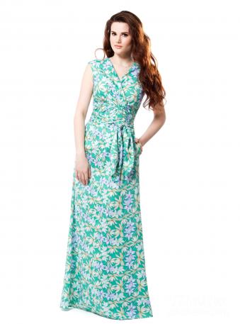 Maxi Dress Lilian in Green, for a big bust Summer Wedding Guest ...