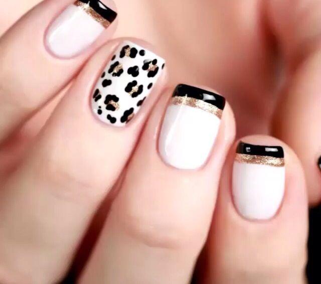 Uñas Nails Francesita Y Animal Print Uñas Decoradas Pinterest