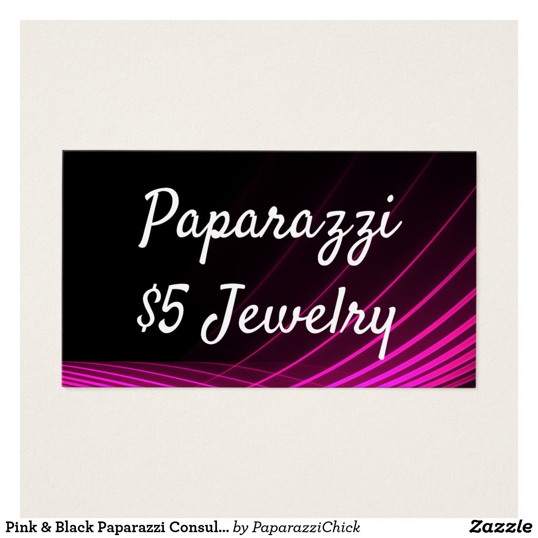 Pink & Black Paparazzi Consultant Business Cards | Paparazzi jewelry ...