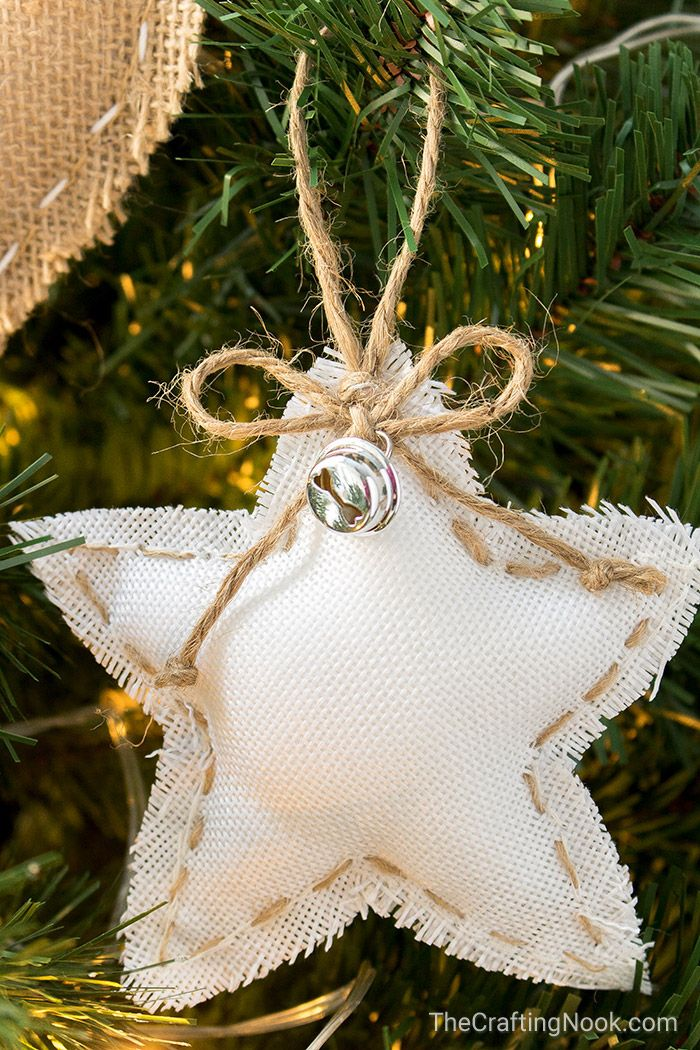 DIY Rustic Burlap Christmas Ornaments (with Video Tutorial) | The Crafting Nook