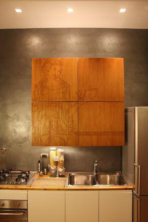 Una sostituzione delle ante della cucina con altre nuove, in legno ...