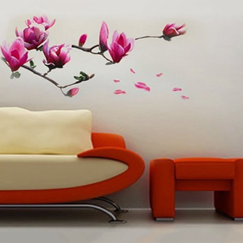 Flower wall, home office and flower wall stickers on pinterest