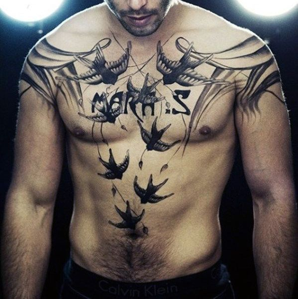Top 87 Men S Chest Tattoo Ideas 2020 Inspiration Guide Chest Tattoo Men Collar Bone Tattoo Tattoos For Guys