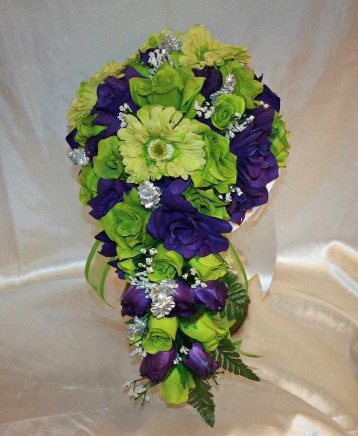 Lime and purple wedding