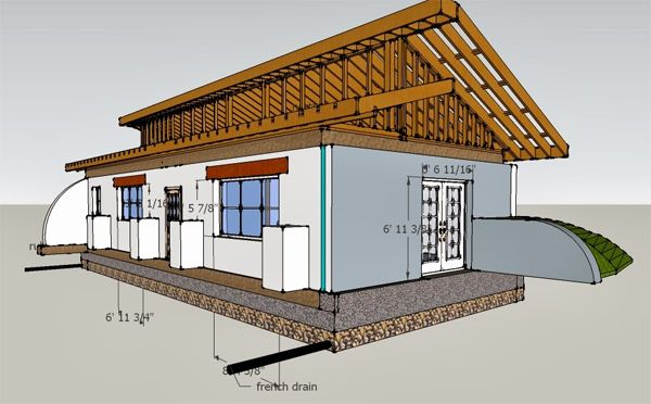 Passive solar earthbag house design in washington state for Home plans washington state