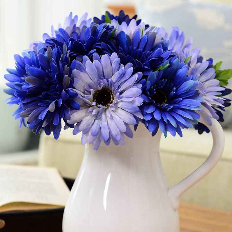 100 Pcs Pack Gerbera Daisy Seeds Majorette Blue Halo Fragrant Bellis Flower Seeds In 2020 Gerbera Daisy Seeds Blue Flowering Plants Flower Seeds