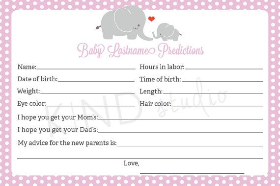 Baby Shower Games Baby Prediction Cards Printable Baby Prediction Cards Baby Prediction Printable Cards