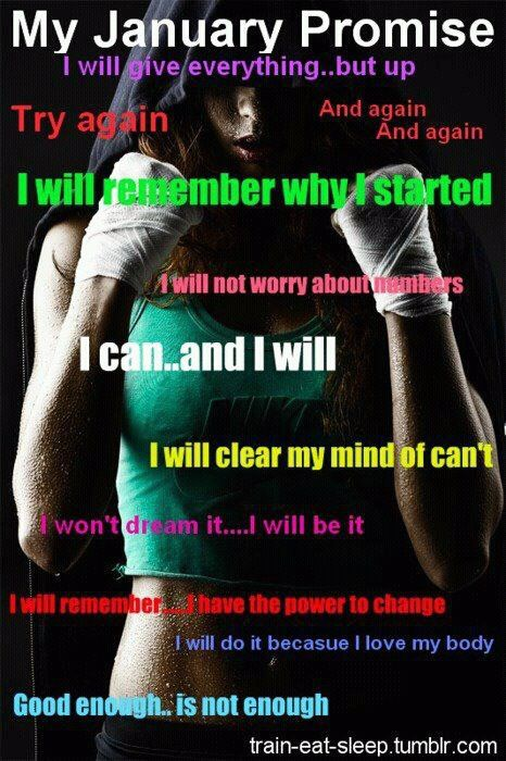My January Promise I Will Live This Motivation Fitness Resolutions Fitness Motivation