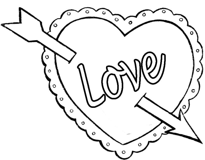 Elegant Coloring Pages Of Valentines Day