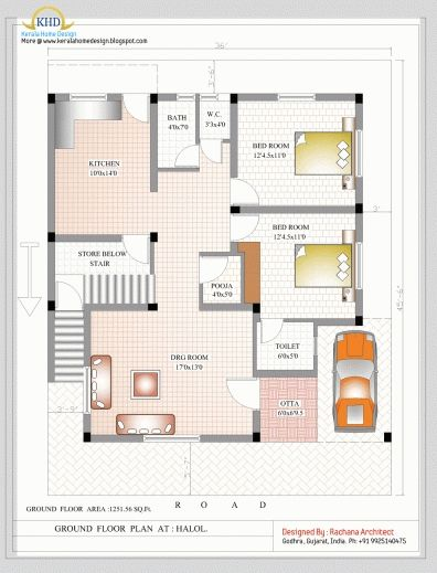 gorgeous 1000 to 1200 sq ft indian house plans completed floor plan
